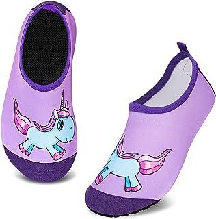 Enfants Chaussures Aquatiques Garçons Filles Antidérapant Sèche Vite Chaussures d'eau Bébé pour Piscine et Plage