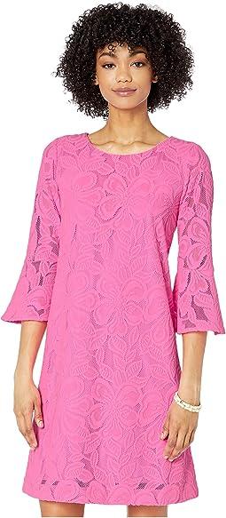Prosecco Pink Wildflower Stripe Lace