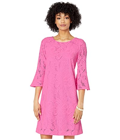 Lilly Pulitzer Ophelia Dress (Prosecco Pink Wildflower Stripe Lace) Women