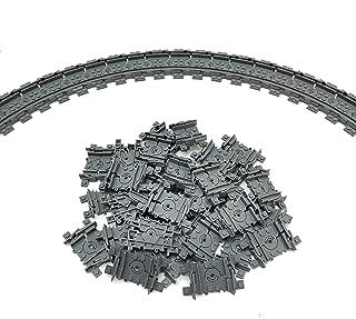 ZHX Flexible Tracks 32pcs Building Train Track Set Classic City Series Railroad Train Non-Powered Rails Toys for Kids Compatible Major Brand
