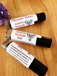 Essential Oil Blend for Grief, Heartache, Fear, Loss, Emotional Healing | Phoenix Tears Rebirth through Fire | emotional support