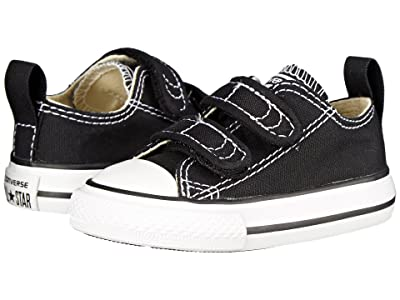 Converse Kids Chuck Taylor(r) 2V Ox (Infant/Toddler) (Black) Kids Shoes