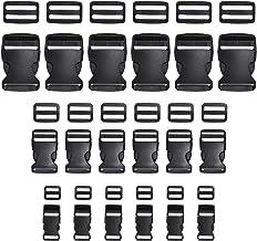 Ceinture Guide Noir Boucle de Sac /à Dos Boucle Agrafe Boucles de la Page AceCamp Boucle Duraflex avec poign/ée Quautobloquante situ/é dans 20 /à 25 mm Boucle de Ceinture