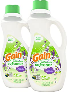 Sponsored Ad - Gain Botanicals Liquid Fabric Conditioner (Fabric Softener), White Tea & Lavender, 44 Oz Bottles, Pack of 2...