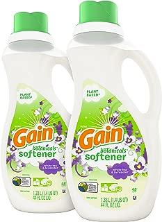 Gain Botanicals Liquid Fabric Softener, White Tea & Lavender, 44 fl oz (Pack of 2)