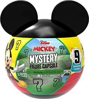 Disney Junior Mickey Mouse Mystery Figure Capsule, 9 pieces inside, Amazon Exclusive, by Just Play
