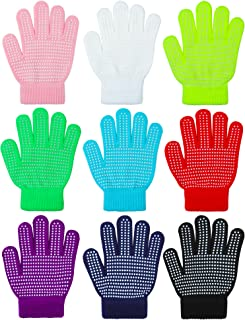 Cooraby 9 Pairs Kids Anti-skid Magic Gloves Winter Warm Stretchy Knit Gloves for Boys or Girls