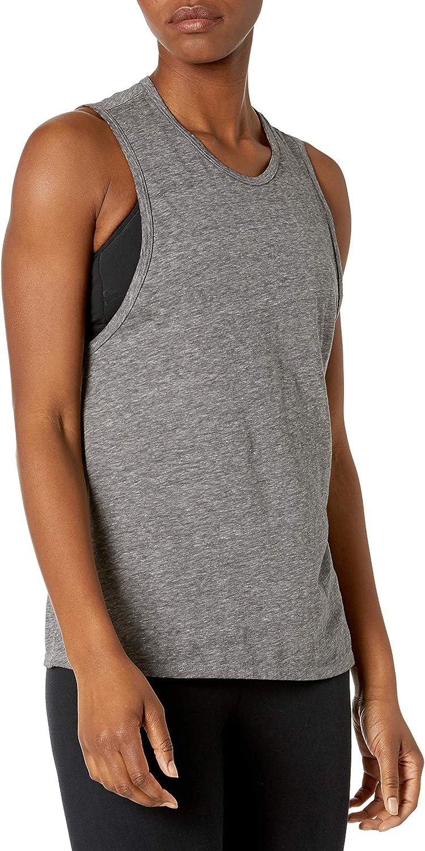 Amazon Brand - Core 10 Oakland Mall Workout Women's Inexpensive Tri-Blend Tank Muscle