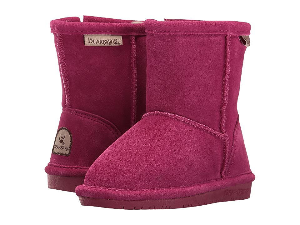 Bearpaw Kids Emma Zipper (Toddler/Little Kid) (Pomberry) Girls Shoes