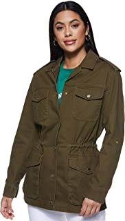Tommy Hilfiger Women's Ww0Ww20312-Dark Olive Tommy Hilfiger Safari Jacket For Women