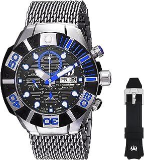 [テクノマリーン]TechnoMarine 腕時計 'Reef' Automatic Stainless Steel and Silicone Casual Watch, TM-515021 メンズ [並行輸入品]