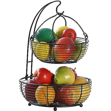 Convenient Fruit Basket Bowl Vegetable Rack Storage Stand Holder Apple Oran E7Y5