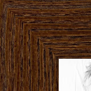 ArtToFrames 13x18 inch Brown - Distressed Wood Wood Picture Frame, 2WOM82223-103-13x18
