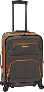 Rockland Luggage 19 Inch Expandable Spinner Carry On, Charcoal, One Size