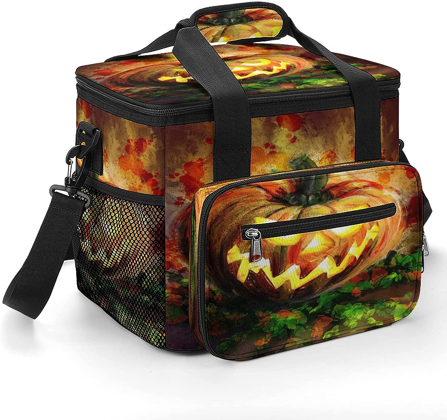 Oil Painting Halloween Pumpkins Cooler I All stores are sold OFFicial site Strap Shoulder with Bag