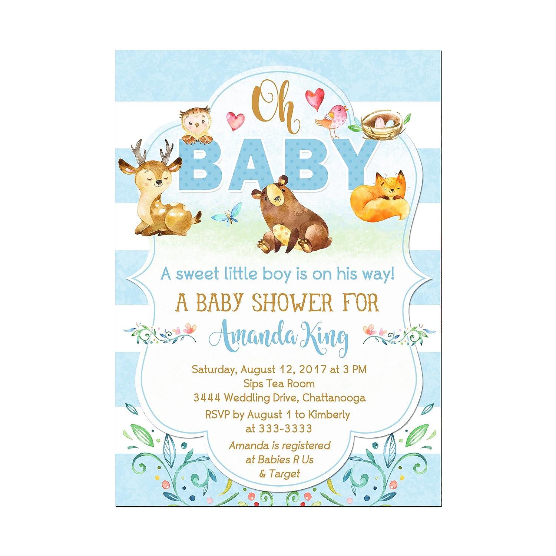 Woodland Animals Deer Baby Shower Forest Invitations Friends Ba Elegant Ultra-Cheap Deals