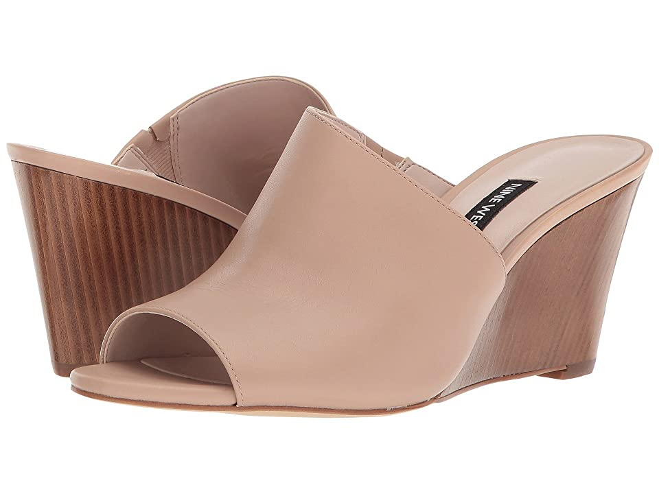 Nine West Janissah Slide Sandal (Light Natural Leather) Women