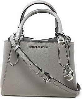 Michael Kors Women's SM Satchel Leather - Pearl Grey Style (35F9SKFS1L)