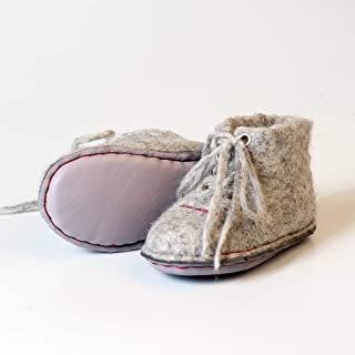 BureBure Felted Wool Baby Sneakers Boots Made by Hands