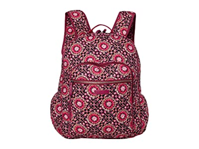 Vera Bradley Iconic Campus Backpack (Raspberry Medallion) Backpack Bags