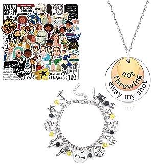 Finduat 50 Pcs Broadway Hamilton Musical Sticker, 2 Pcs Not Throwing Away My Shot Necklace and Broadway Hamilton Musical T...