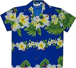 Alvish Hawaiian Camisas Niños Hibiscus Flor Estampado Playa Aloha Fiesta Camp Manga Corta