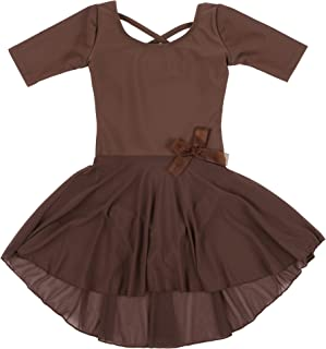 Leveret Kids Girls Skirt Leotard Long Sleeve Size Toddler-X-Large (2-14 Years) Variety of Colors