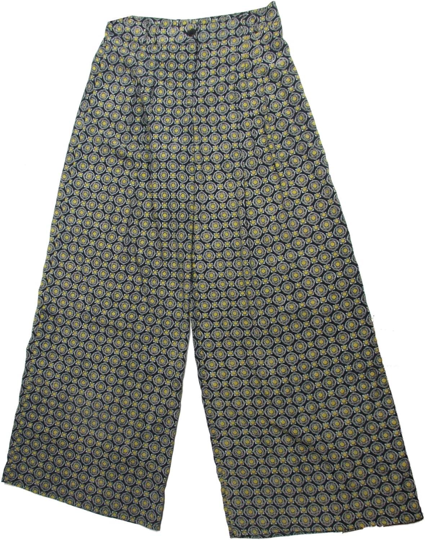 Bar III Womens Printed WideLeg Stretch Pants Small Navy