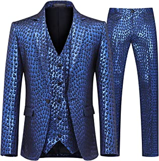 peacock lined suit
