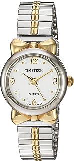 TIMETECH Women's Two Tone Watch Steel Expansion Stretch Bracelet