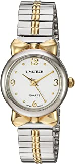 Viva Time Women's 'Timetech Stretch Bracelet' Quartz Metal and Stainless Steel Casual Watch, Color:Two Tone (Model: 2681L)