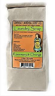 Cheeky Maiden Rosemary & Orange Laundry Soap 100% Natural Handmade Borax Sodium Carbonate Sodium Bicarbonate Our Natural soap Rosemary & Orange Essential Oil 75 Loads Made in USA