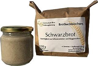Schwarzbrot Brotbackmischung mit Sauerteig