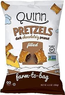 Quinn Snacks Pretzels Dark Chocolate'y Peanut Filled, 6.5 Oz, 8Count