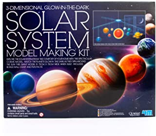 4M 5219 3-Dimensional Glow-In-The-Dark Solar System Mobile Making Kit