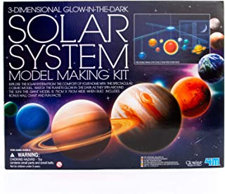 4M 3D Glow-In-The-Dark Solar System Mobile Making Kit - DIY Science Astronomy Learning STEM Toys Educational Gift for Kids & Teens, Girls & Boys