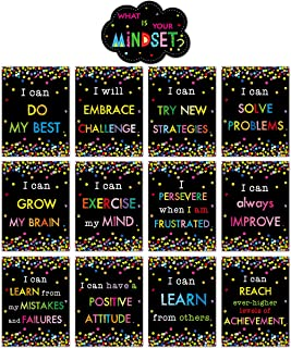 Bulletin Board Display Set Confetti-Themed Cutout What is Your Mindset for Classroom Decoration