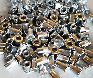 Tuercas de remache 190PCS Kit de tuerca de remache aplicable al campo de fijaci/ón tuercas de fijaci/ón roscadas de cabeza plana de aluminio M3 M4 M5 M6 M8 M10 tuerca de remache de cabeza plana
