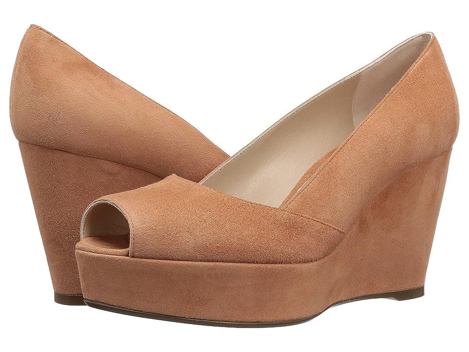 Stuart Weitzman Tori (Ballet Seda Suede) Women's Shoes, Coral
