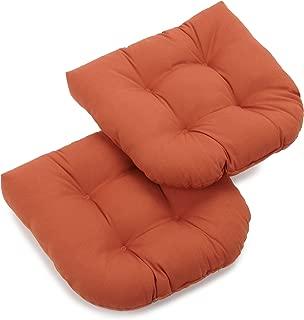 Blazing Needles Twill 19-Inch by 19-Inch by 5-Inch U-Shaped Cushions, Spice, Set of 2