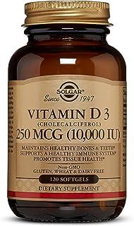 فيتامين دي 3 طبيعي من سولجار، 10.000 وحدة دولية، 120 كبسولة جيلاتينية