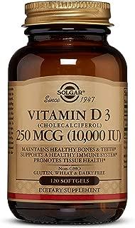 Vitamin D3 (Cholecalciferol) 250 MCG (10,000 IU) Softgels - 120 Count