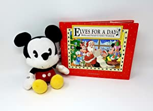 Global Horizons Mickey Mouse Bobble Head Plush with Bonus Book- Elves for a Day: Mickey and Friends in Santa's Workshop