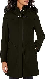 Cole Haan Womens 358SW541 Wool Twill Long Duffel Coat Wool Coat