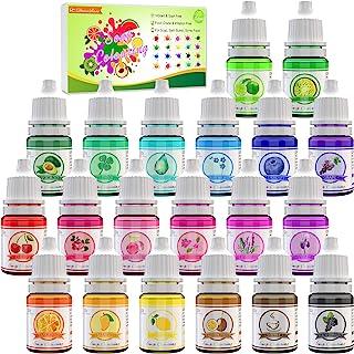 20 Couleurs colorants de Savon - Colorant Liquide de Savon Qualité Alimentaire pour la Bombe de Bain, Fabrication de Savon...