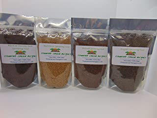 4 Pack Leafy Green Seed Assortment- (2 oz Black of Tuscany Kale, 2 oz Broccoli, 2 oz Red Clover, 2 oz Arugula) Country Cre...