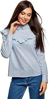 oodji Ultra Women's Flounce Cotton Blouse