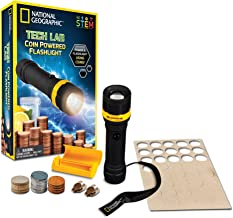 NATIONAL GEOGRAPHIC Tech Lab: Coin Powered Flashlight – Incredible Science Kit Teaches Kids About Circuits and Electricity...
