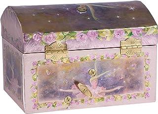 Childrens Purple Musical Music Box Jewelry Music Box Spinning Dancing Ballerina Drawer-Tune is Swan Lake by Broadway Gifts