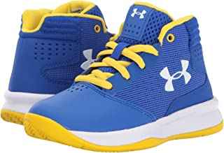 (アンダーアーマー) UNDER ARMOUR キッズバスケットボールシューズ?靴 UA BPS Jet 2017 Basketball (Little Kid) Team Royal/White/White 1 Little Kid (20cm) M